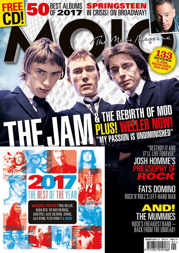 MOJO 290, featuring The Jam and MOJO's 50 Best Albums Of 2017.