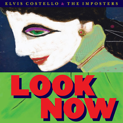 Look Now's album cover. Looks like Elvis has been at the paints again.