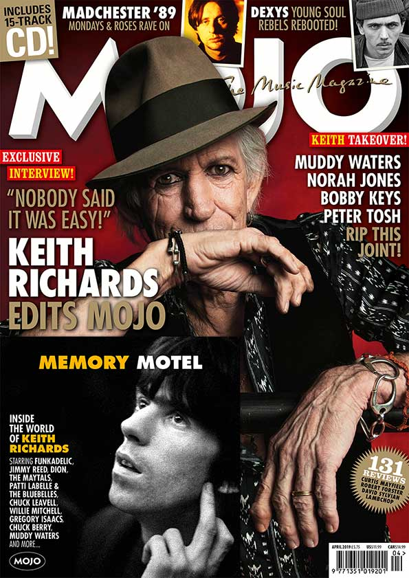 Keith curates Mojo Magazine - april 2019