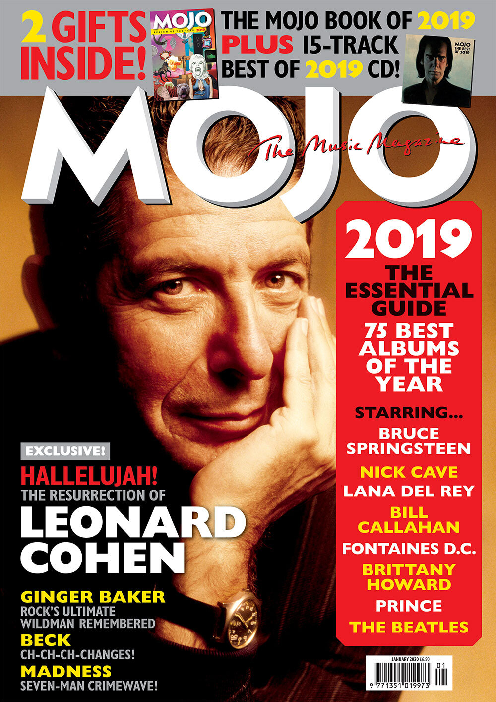 Best Albums Of 2020 So Far.Mojo 314 January 2020 Leonard Cohen Mojo
