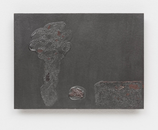 Antonio Dias   Árvore, 1983  acrílico s/ tela, 24,5 x 33 cm   Tree, 1983  acrylic on canvas, 9  ⅝  x 13 inches