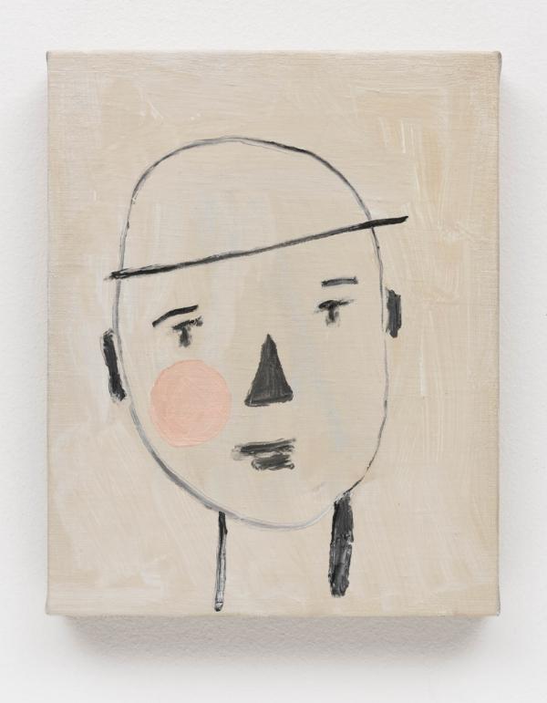 Ana Prata   Menino, 2014  óleo s/ linho, 30 x 24 cm   Boy  oil on linen, 11 13/16 x 9 7/16 inches