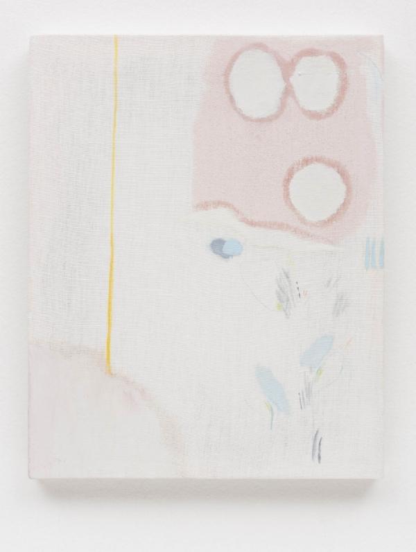 Yasmin Guimarães    Sem título, 2016  óleo s/ linho, 30 x 24 cm      Untitled, 2016   oil on linen, 11 13/16 x 9 7/16 inches