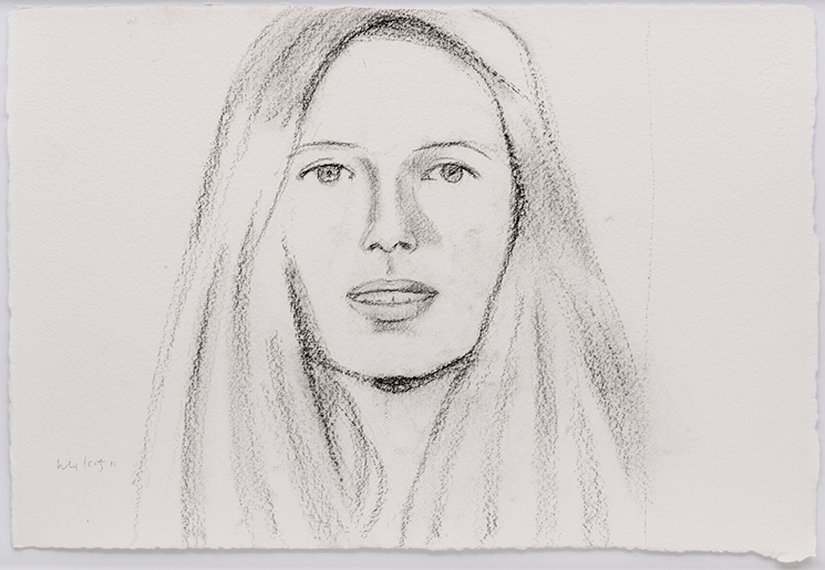 Alex Katz,  Sara , 2011, grafite s/ papel |  charcoal on paper , 37 x 57 cm