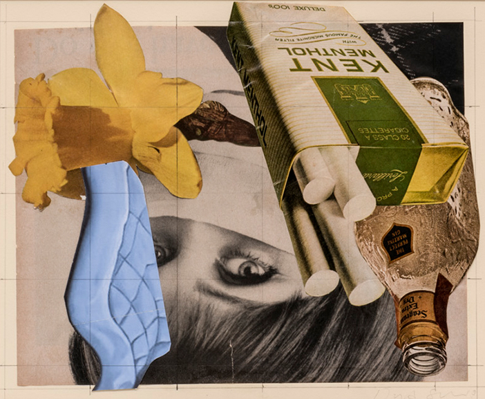 David Salle,Sem título, 2013,colagem |collage, 23,5 x 29 cm