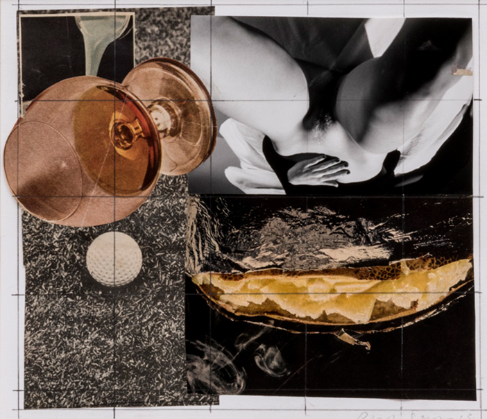 David Salle, Sem título, 2013, colagem | collage, 22 x 26 cm