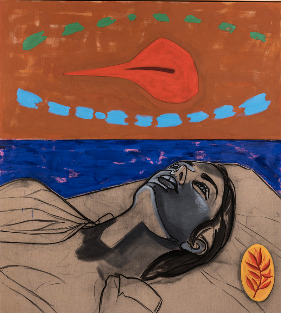 David Salle, Red Leaf, 2013, óleo s/ linho | oil on linen, 190 x 173 cm