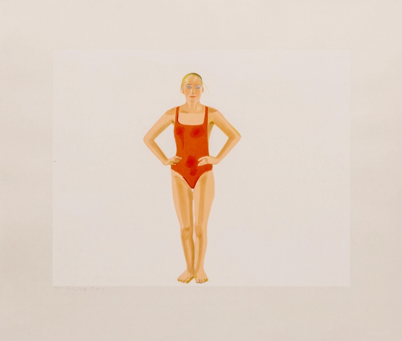 Alex Katz,Swimmer, 1991,xilogravura s/ papel Echizen Kozo |woodcut on Echizen Kozo paper,59 x89 cm