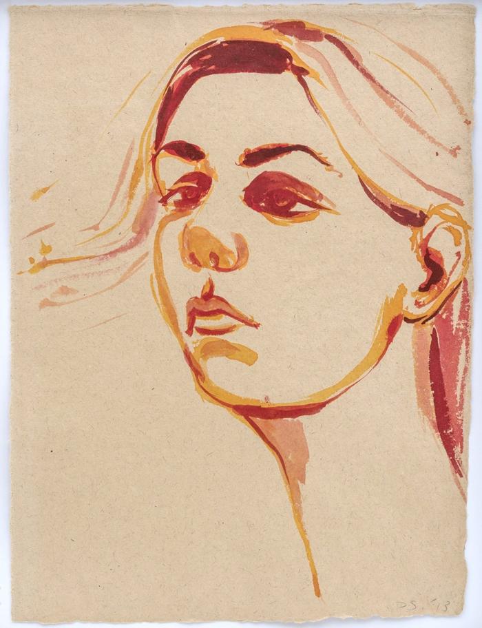 David Salle,Untitled, 2015,guache e aquarela s/ papel |gouache and watercolour on paper,37 x 28 cm