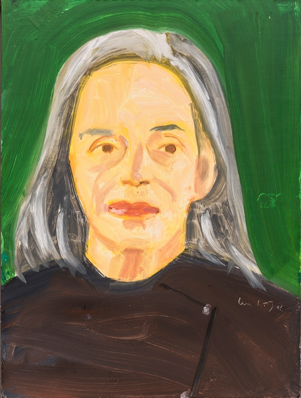 Alex Katz,  Ada , 2016, óleo s/ tela |  oil on board,  40 x 30 cm
