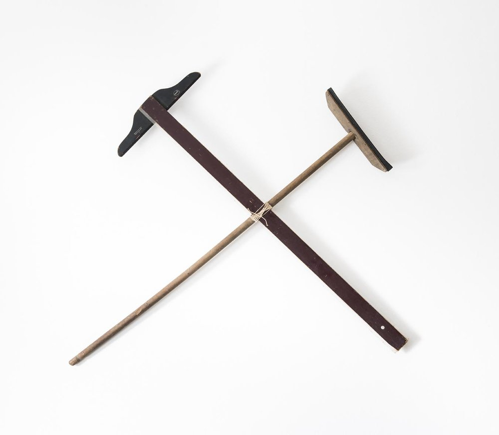 Marcos Chaves Pause, 1990 Rodo e régua | Squeegee and ruler, 100 x 104 cm