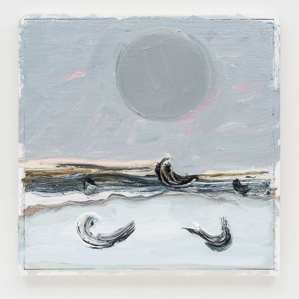 Gabriela Machado,Luas | Moons, 2017, óleo sobre linho |oil on linen,30 x 30 cm