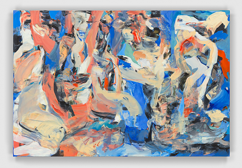 "Cecily Brown,  The Opening and the Close  [O Abrir e o Fechar] ,  2017, óleo sobre linho | oil on linen, 104 x 155 cm |  41 x 61""  –   Foto 