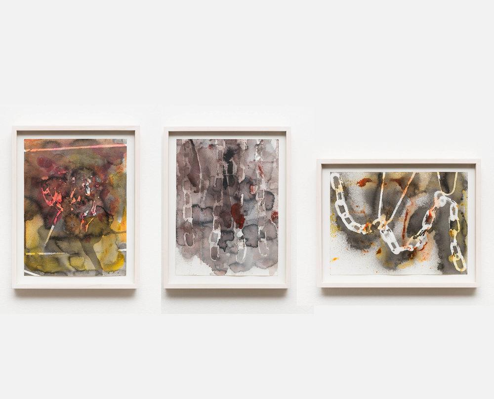 Variações de Correntes em Cor     Chain Variations in Color,  2019   aquarela     watercolor    22 x 29,7 cm   8 21/32 x 11 13/16 in