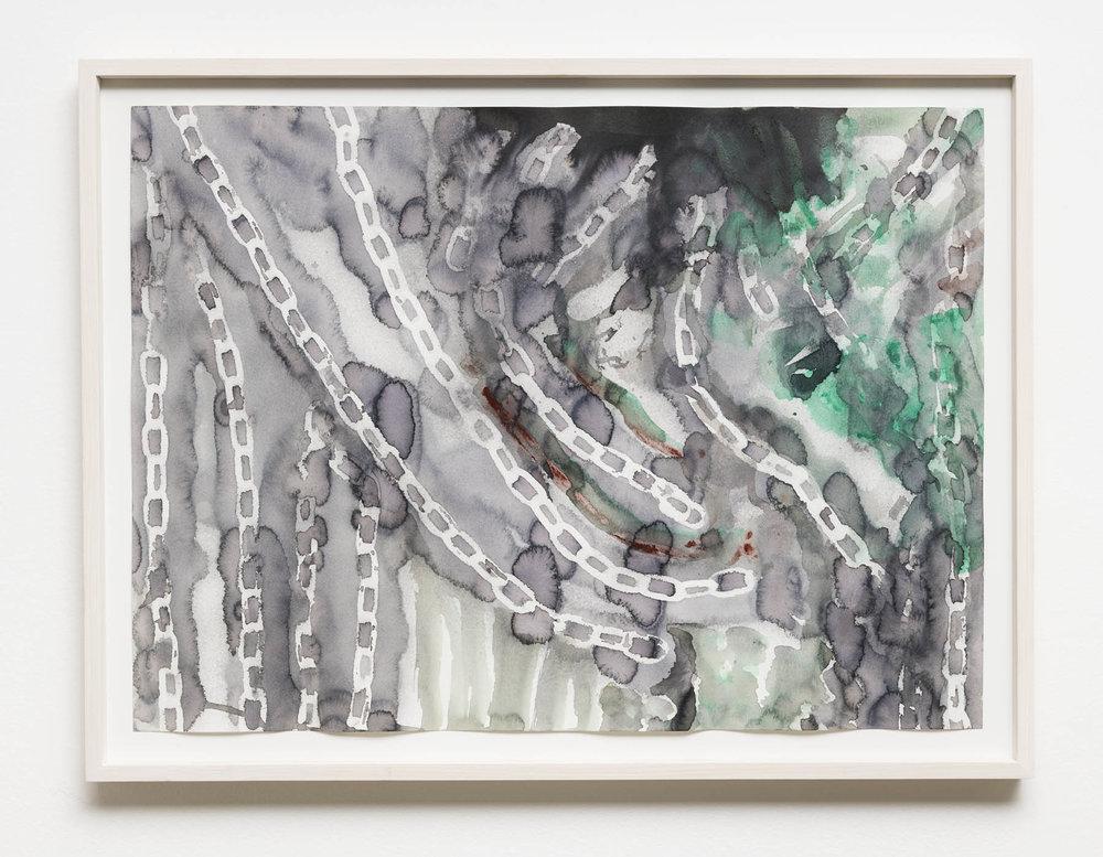 Variações de Correntes em Cor     Chain Variations in Color,  2019   aquarela     watercolor   54 x 75 cm    2117/64 x 29 17/32 in