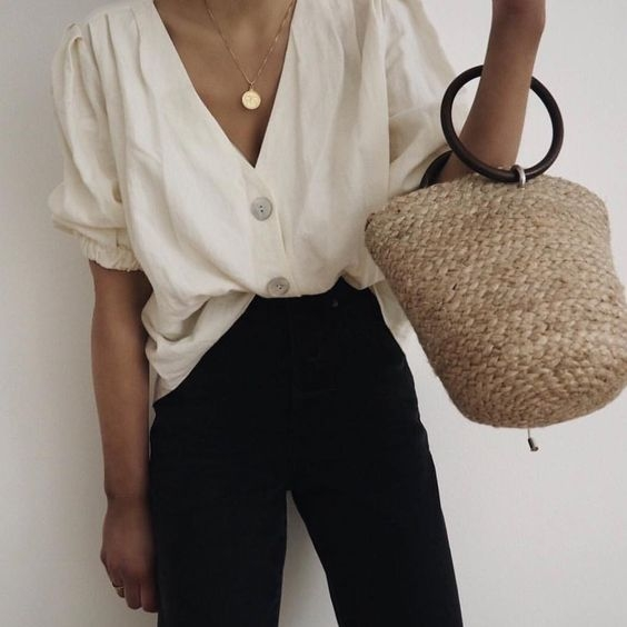 Linen shirting with jeans