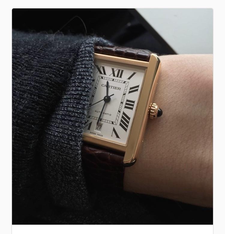 On The Dreams List. Cartier Tank Watch
