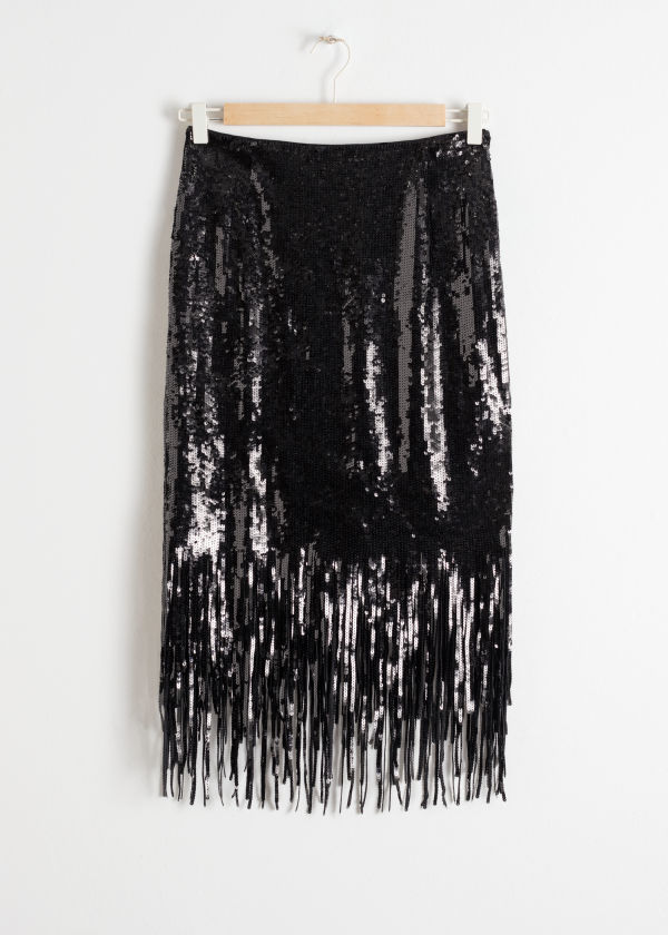 Sequin Fringe Skirt -  And Other Stories £69