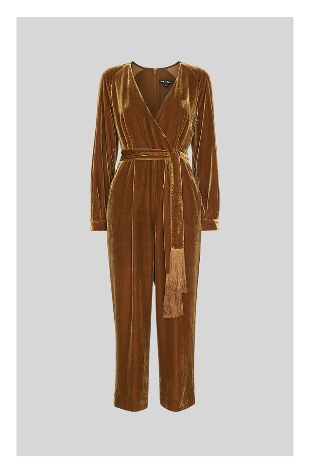 Velvet Jumpsuit -  Whistles £159