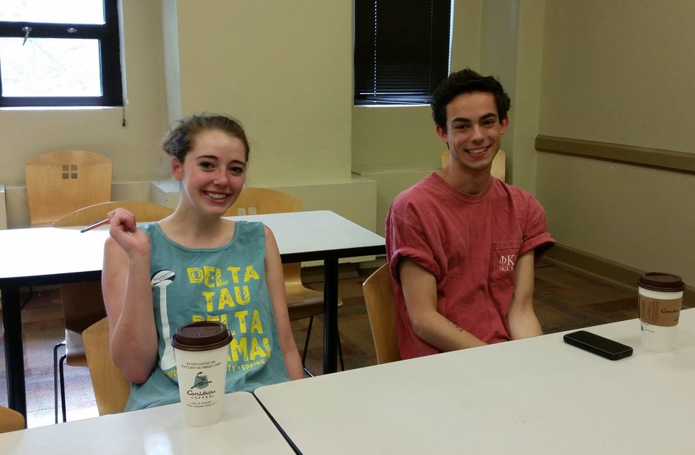 Students frequently bring friends to class.