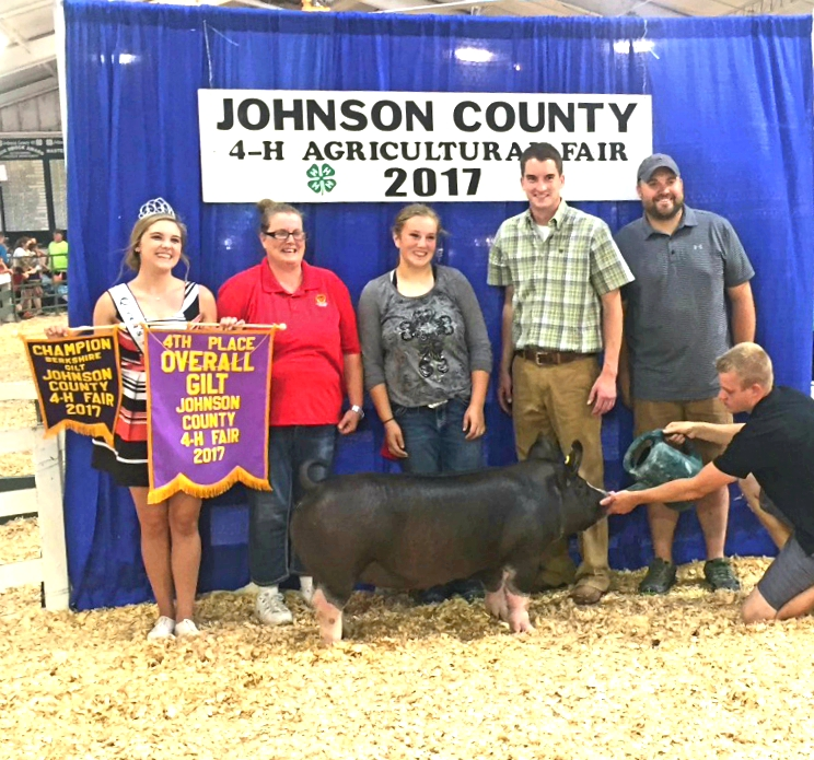 Champion Berkshire Gilt and 4th Overall Breeds