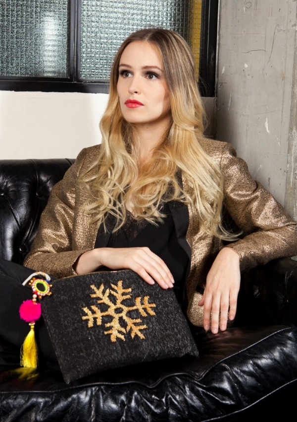 The snowflake collection- stylish, luxury handbags ethically crafted in india from Mia Malia