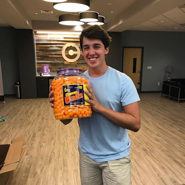 We've loved having Joshua with us this summer and are sad to see him go! Luckily we thought of the perfect gift for his last day! #cokesburystudents