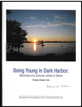 - Reprinted from the Social Register ObserverSummer 2009, Issue XXXIAuthor: Frances Cheston TrainPrice: $5.21Plus Maine Sales Tax $.29