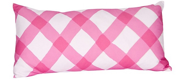 Dana Gibson Gingham Pillow