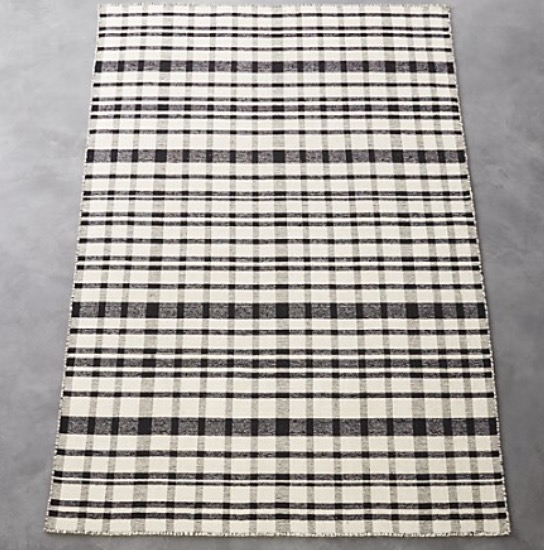 Black and White Check Rug