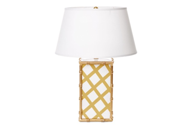 Dana Gibson Taupe Lattice Lamp