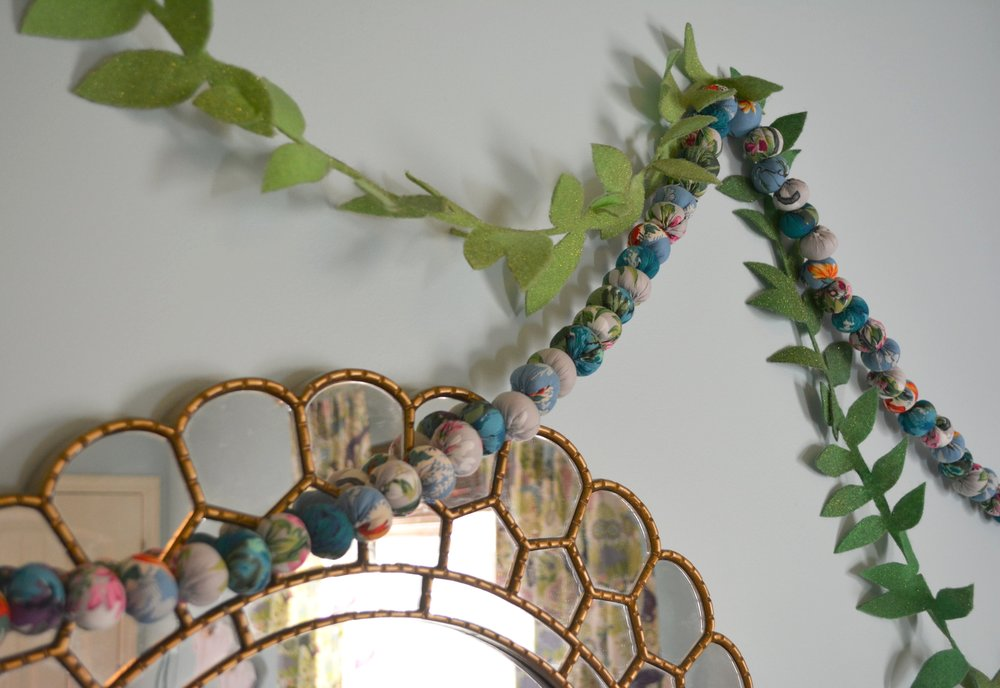 Lazybones garland combined with my DIY leaf garland