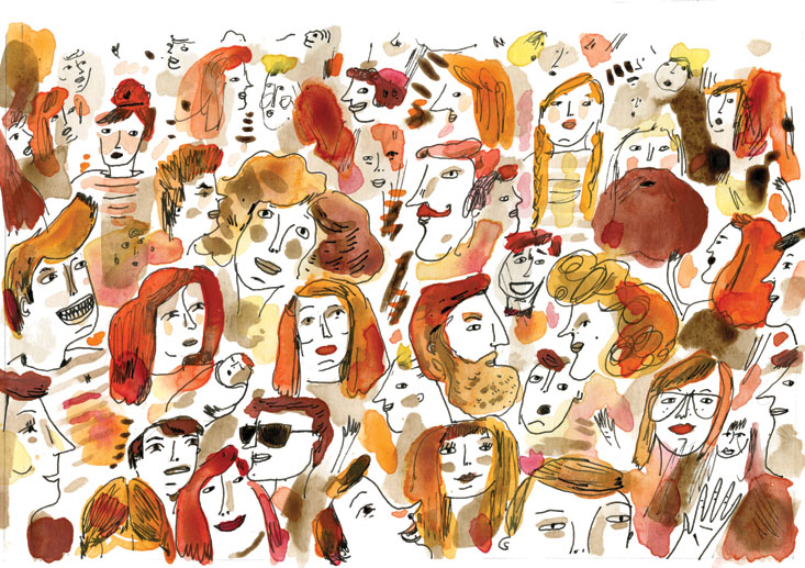 """Gathering of Redheads"" by Elizabeth Graeber."