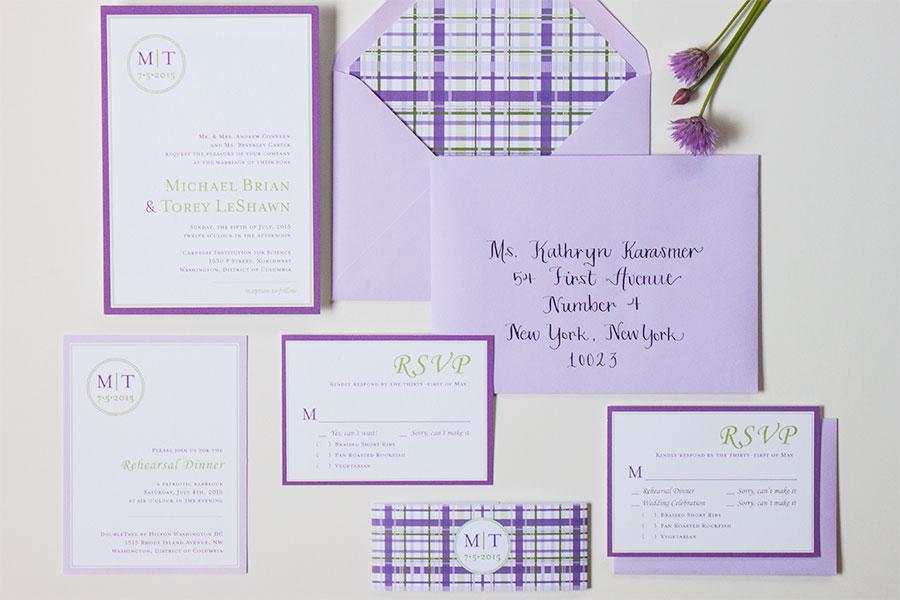 Custom Wedding Invitation for Mike + Torey