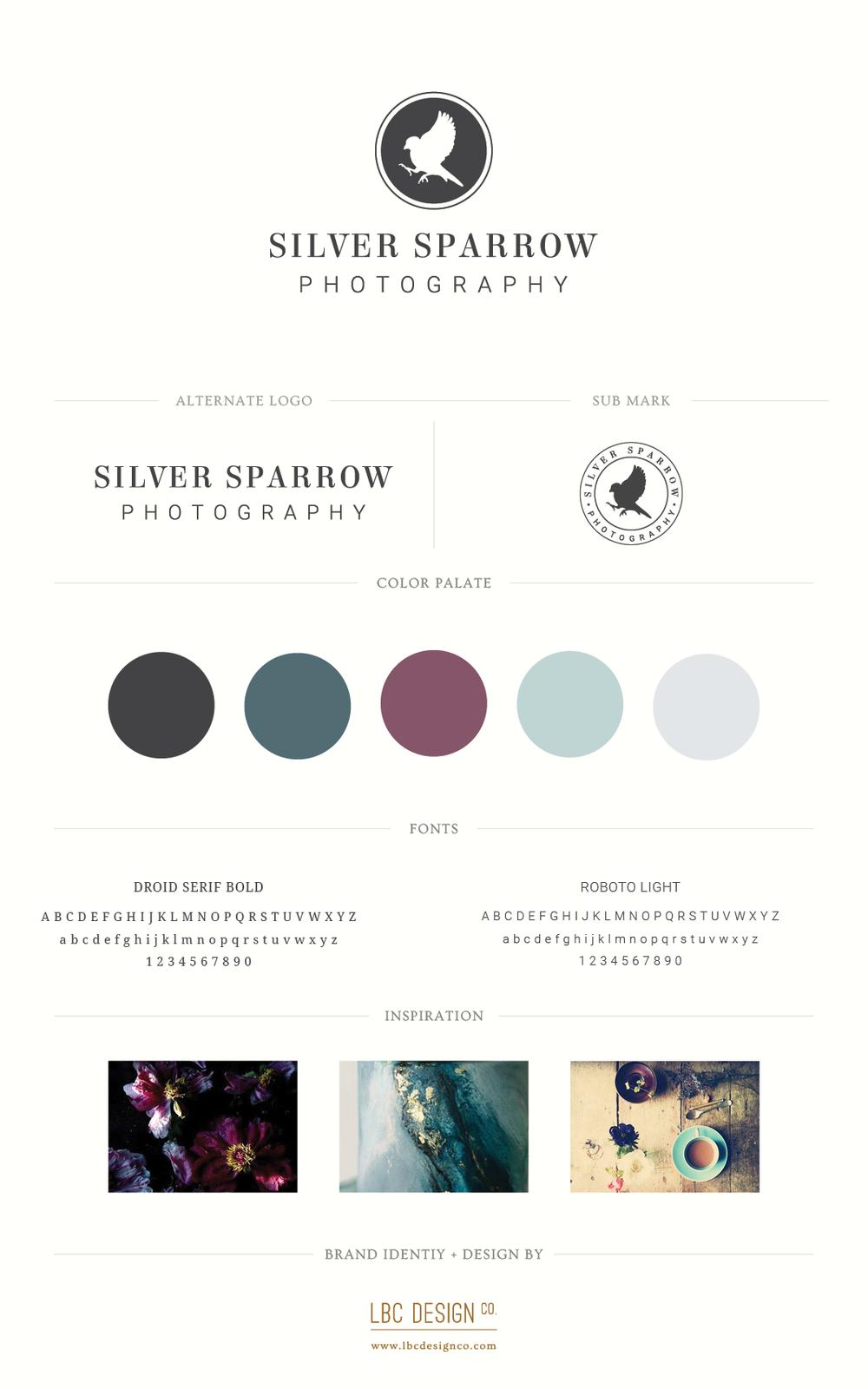 Silver Sparrow Photo-Brand Board