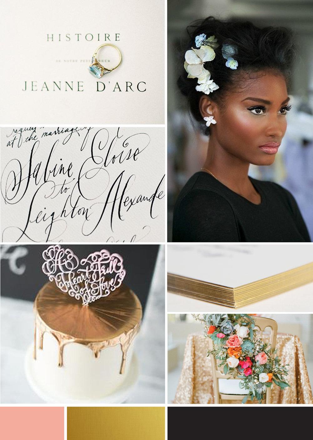 1. Elle France 2. Guilded Edges 3. Style Me Pretty 4. Butter Cream Bake Shop 5. Stephanie Fishwick 6. Alicia Malicia