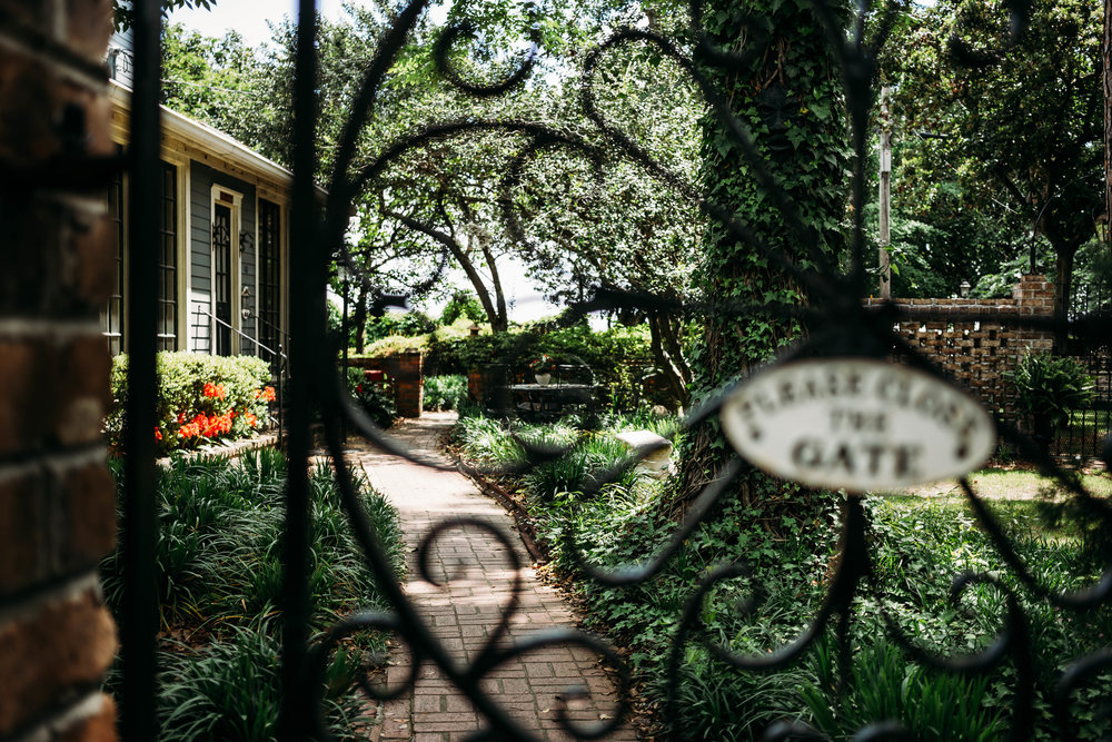 So much beauty in Savannah, Georgia. All the hidden gardens and gates...