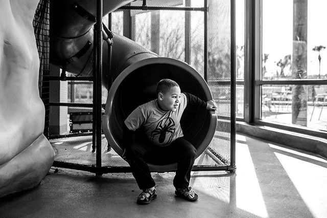 Feb 1. We're learning about digestion and there's an exhibit at our local children's museum that the slide is like the intestine... they think its HILARIOUS they come out like poop.  #megpittsphotography365