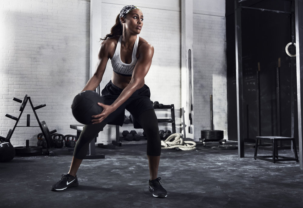 Skylar Diggins in the Nike Metcon DSX Flyknit