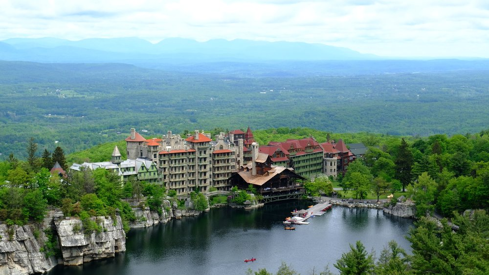 Mohonk Mountain House from the Sky Top