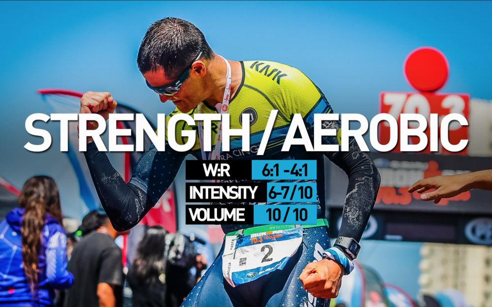 GOAL:  Develop aerobic efficiency/engine and muscular endurance for race and training demands.