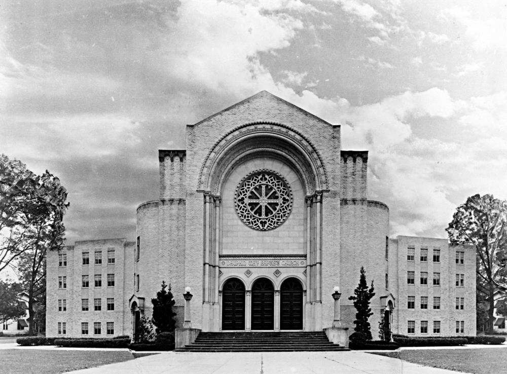 The Alabama School of Math & Science, Formerly Dauphin Way Baptist Church, at 1255 Dauphin Street