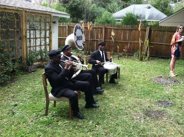 Yard party with Mobile's famed Excelsior Band, est.1883