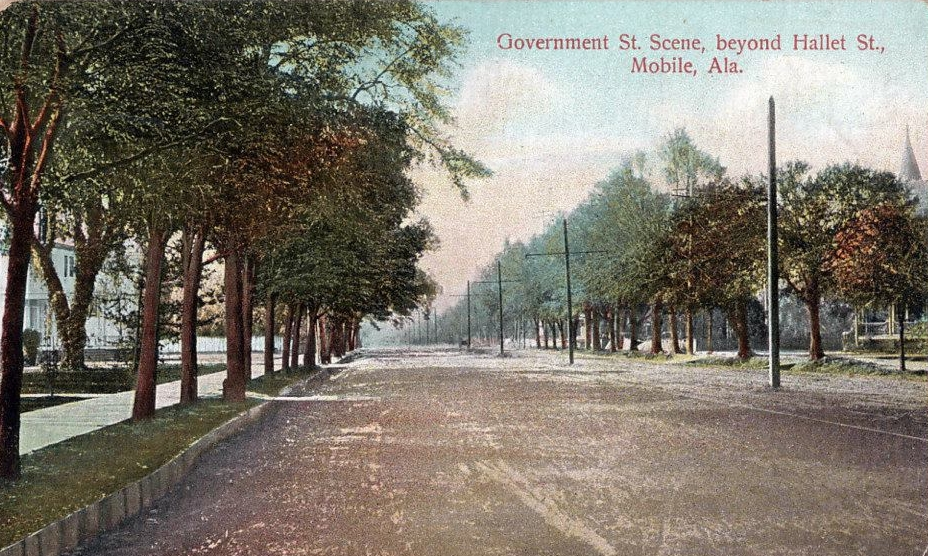 Government Street beyond Hallet Street