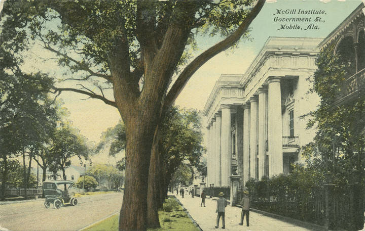 The first McGill Institute, est. 1896 on Government Street in Downtown Mobile. It is now a parking lot across from Government Plaza.