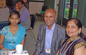 Angel, Lamuel, and Smita attended OMSC's Community Ministries Forum on May 8.