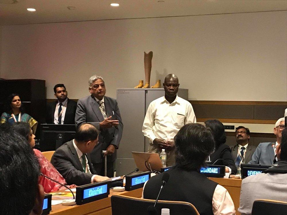 John talks to United Nations ambassadors and guests.jpg