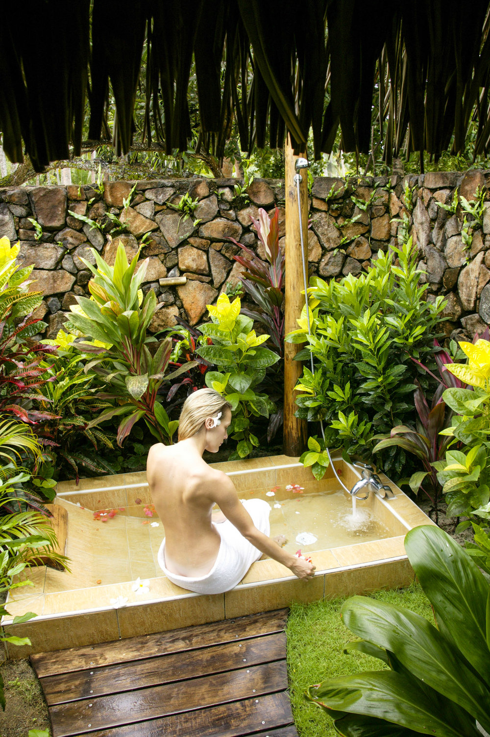 Outdoor Shower, Bora-Bora