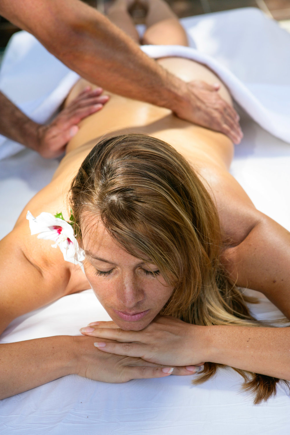 Relaxing Outdoor Massage