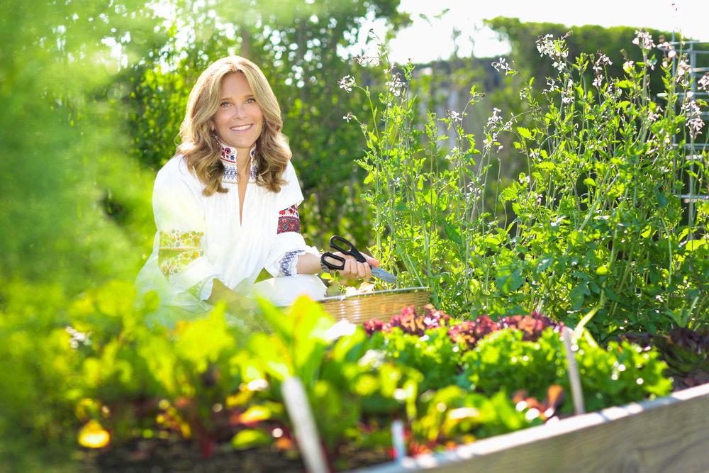 Mara Landis in her Hamptons Garden